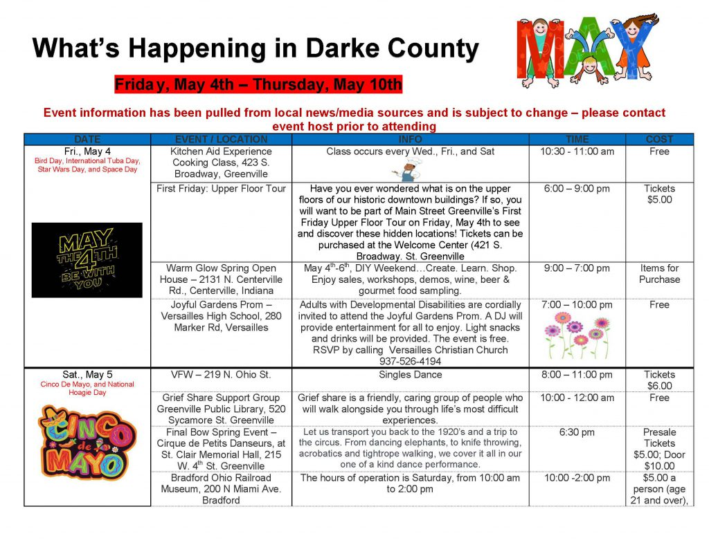 Community Calendar Whats Happening 4.27.18 Page 5