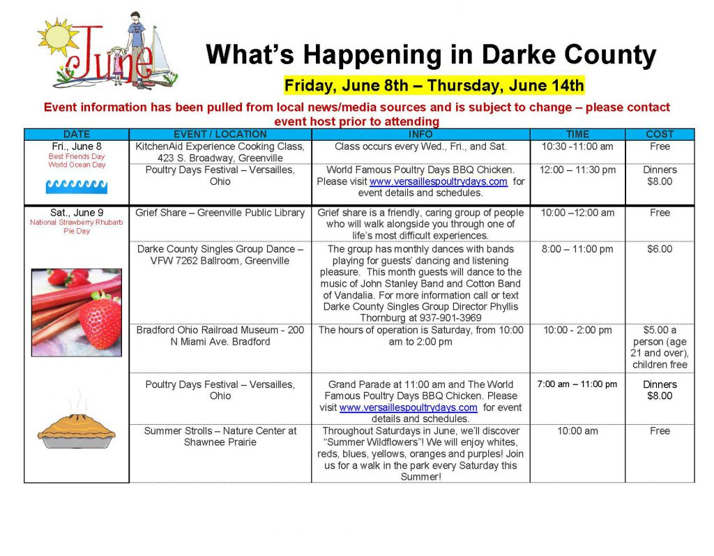 Community Calendar Whats Happening 6.8.18 Page 01
